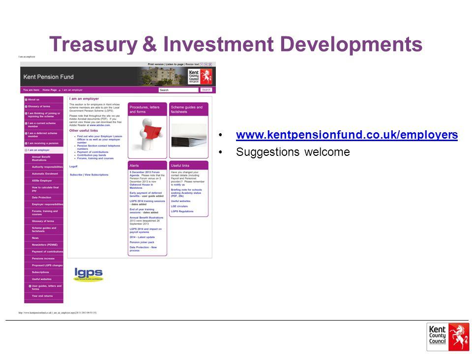Treasury & Investment Developments