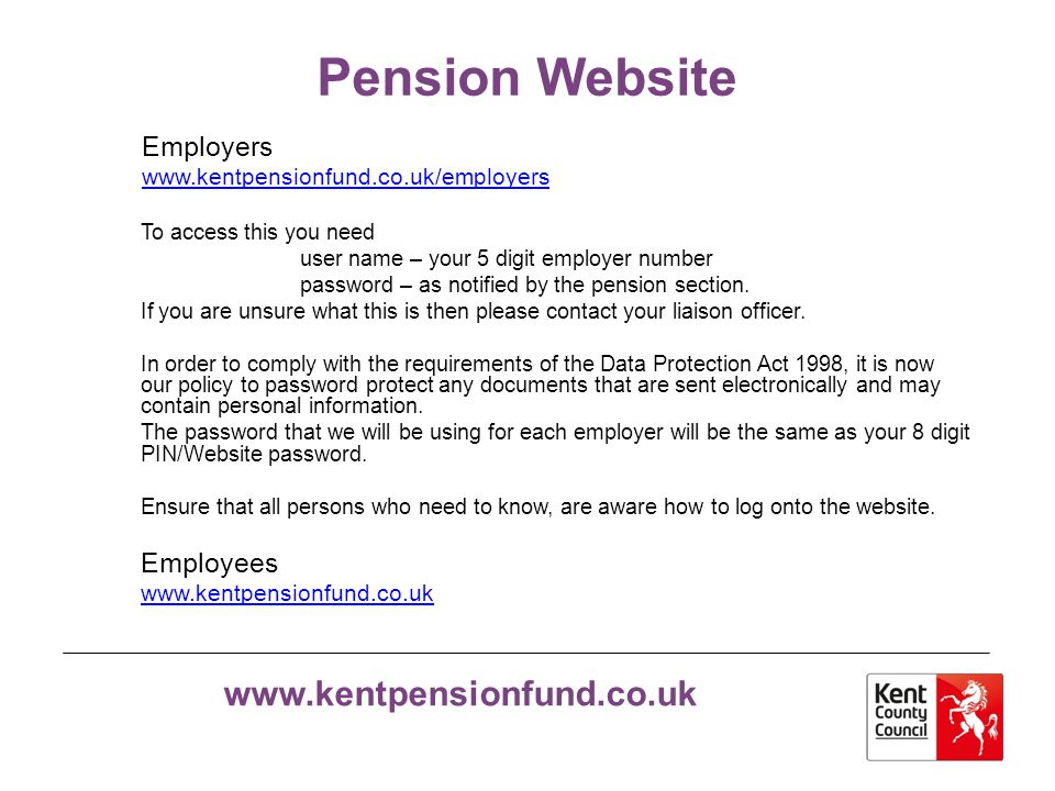 Pension Website Employers Employees