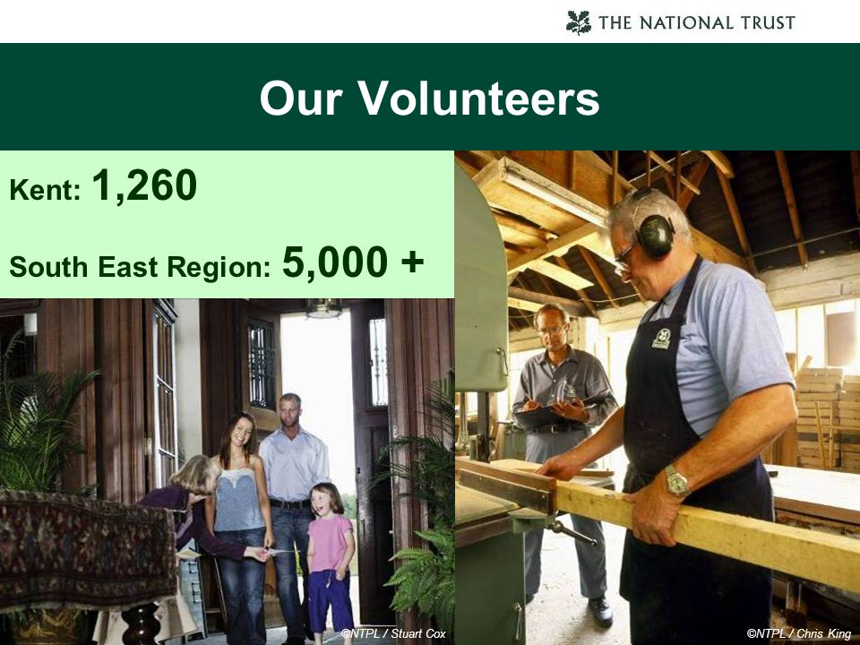 Our Volunteers Kent: 1,260 South East Region: 5,000 +