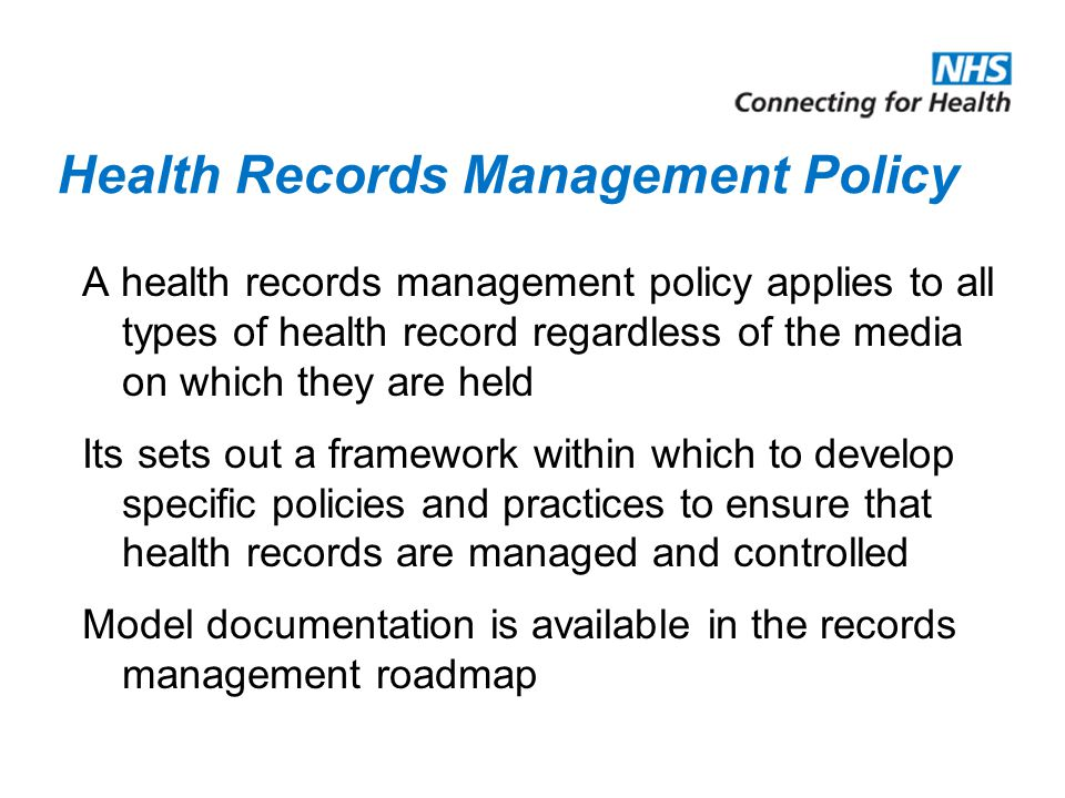 Health Records Management Policy