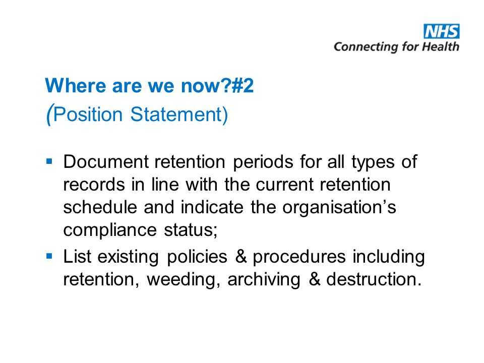 Where are we now #2 (Position Statement)