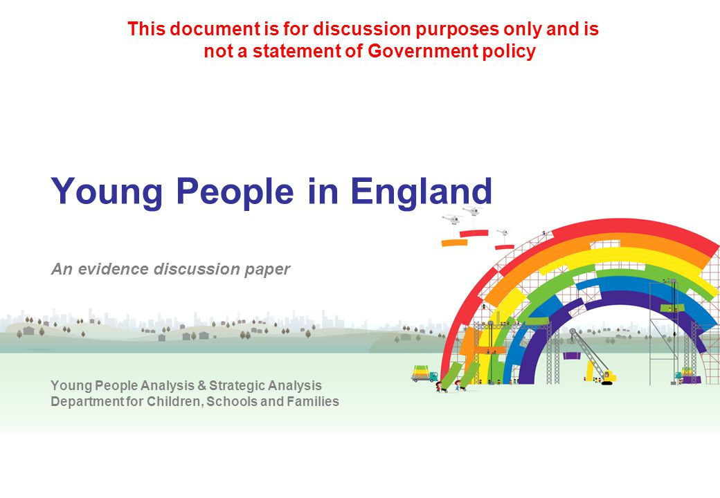 This document is for discussion purposes only and is not a statement of Government policy
