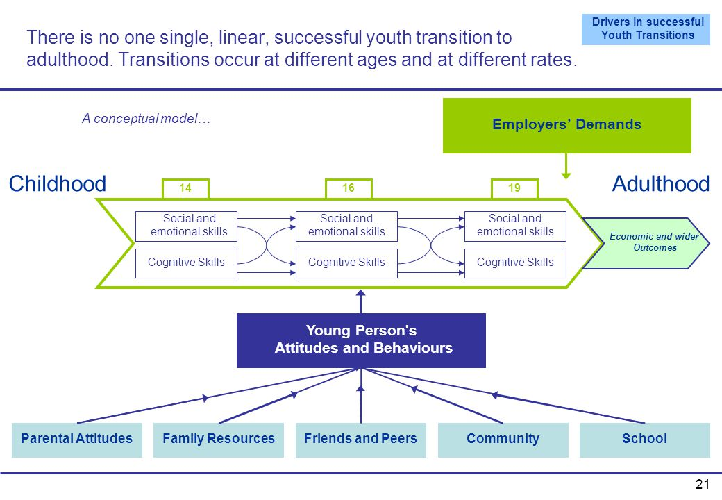 Drivers in successful Youth Transitions Attitudes and Behaviours