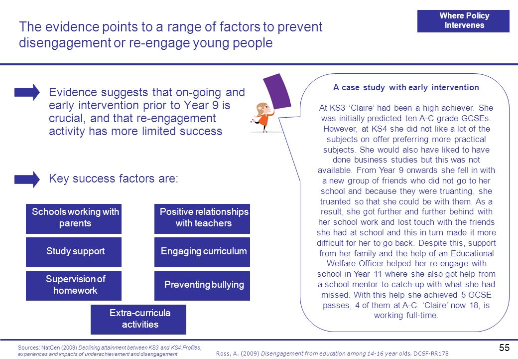 Where Policy Intervenes A case study with early intervention