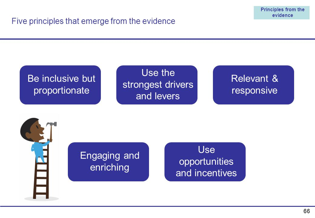 Five principles that emerge from the evidence