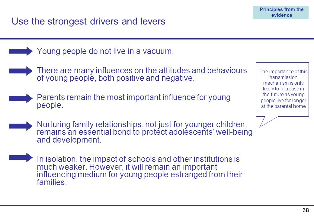 Use the strongest drivers and levers