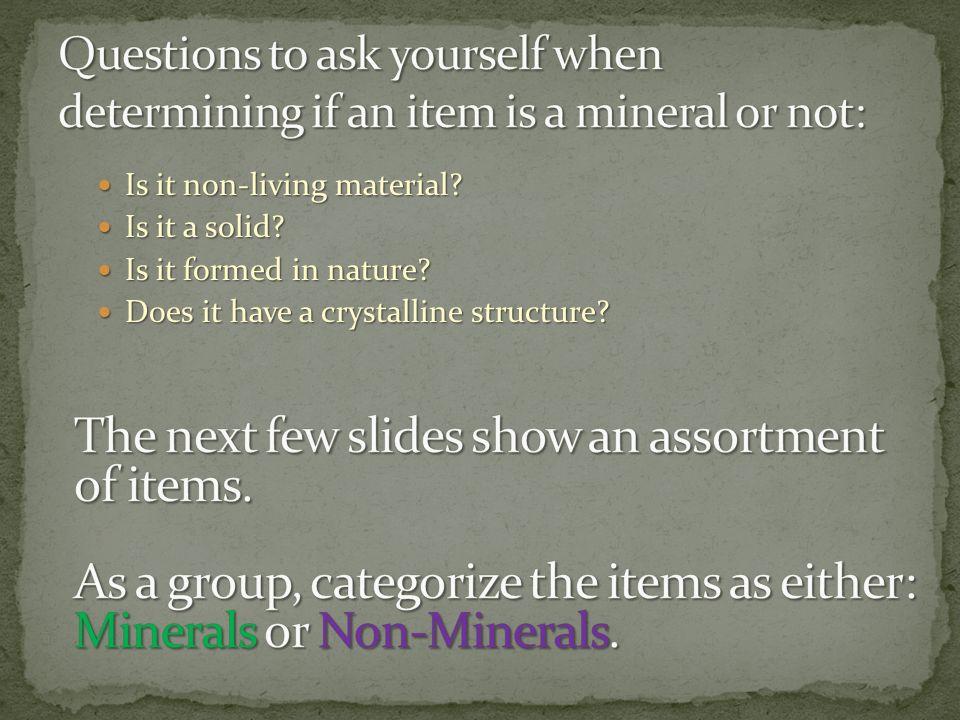 The next few slides show an assortment of items.