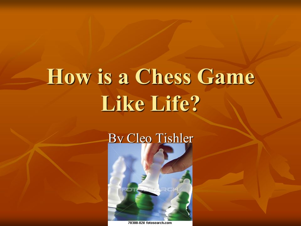 How is a Chess Game Like Life