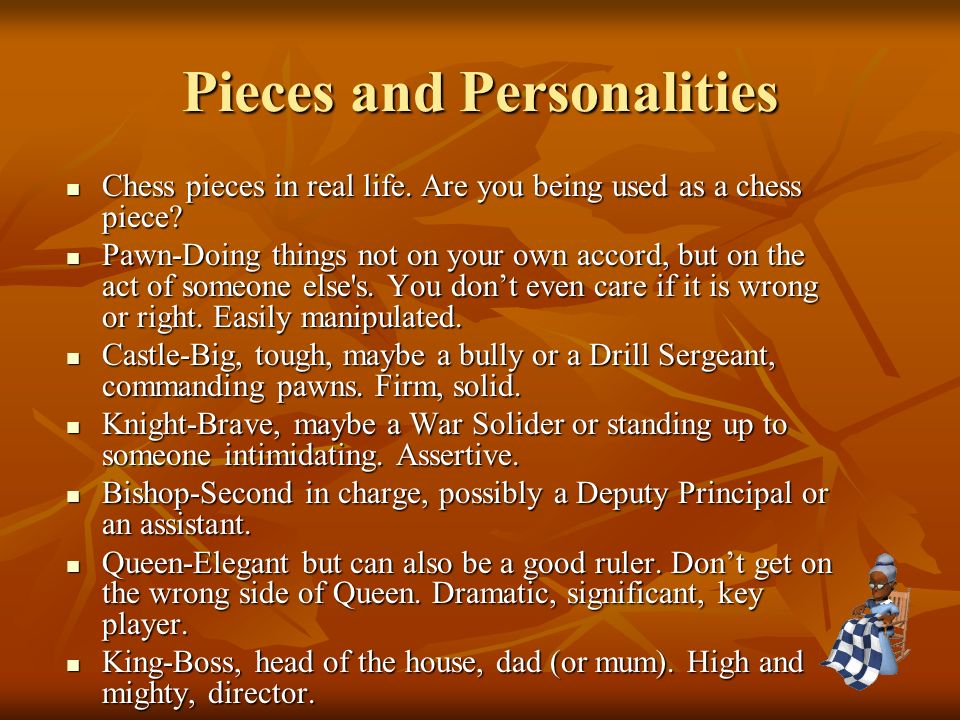Pieces and Personalities