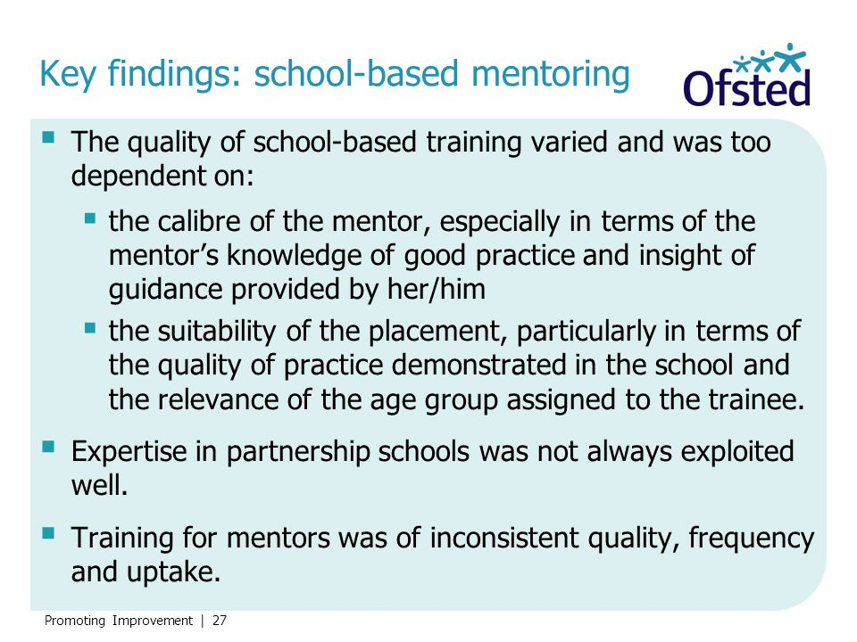 Key findings: school-based mentoring