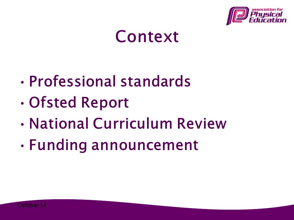 Context Professional standards Ofsted Report