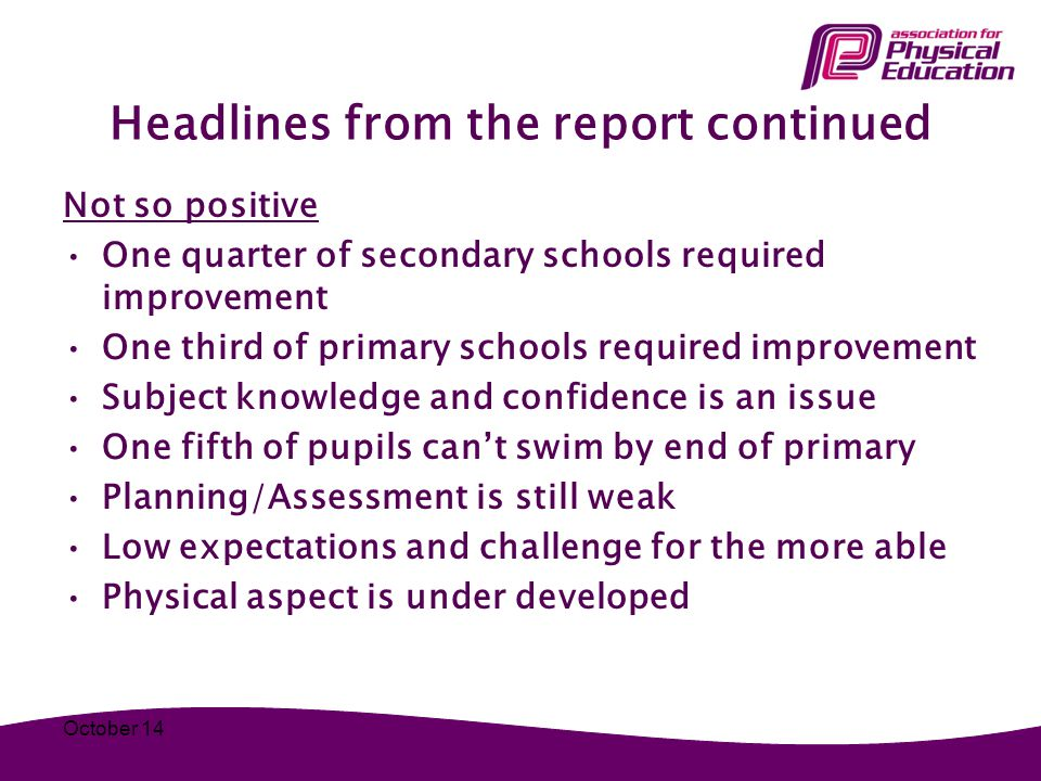 Headlines from the report continued