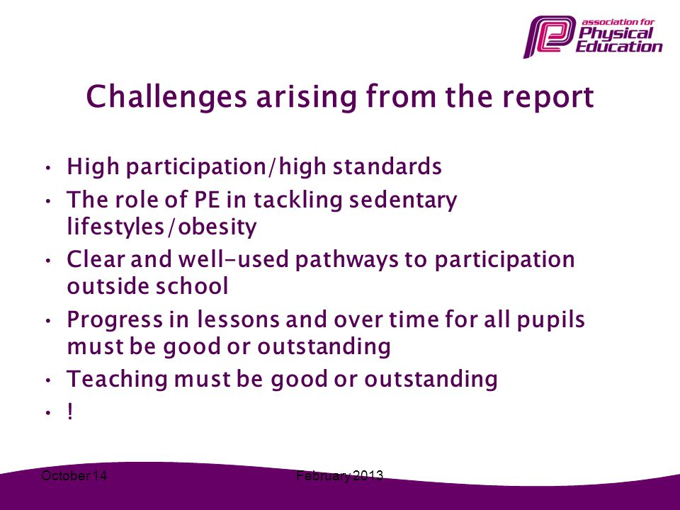 Challenges arising from the report
