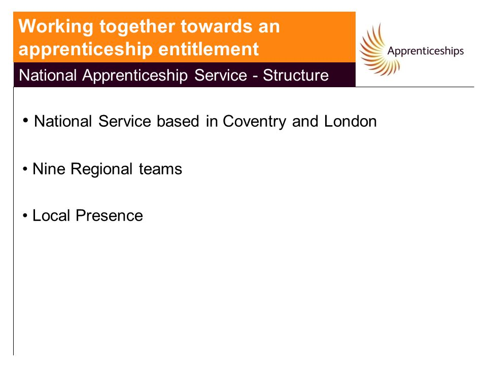 National Apprenticeship Service - Structure