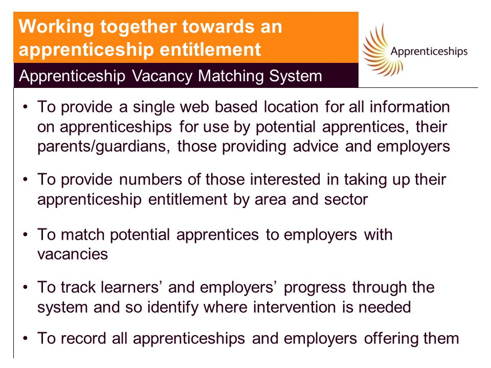 Apprenticeship Vacancy Matching System