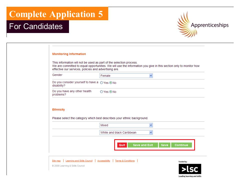 Complete Application 5 For Candidates For Candidates