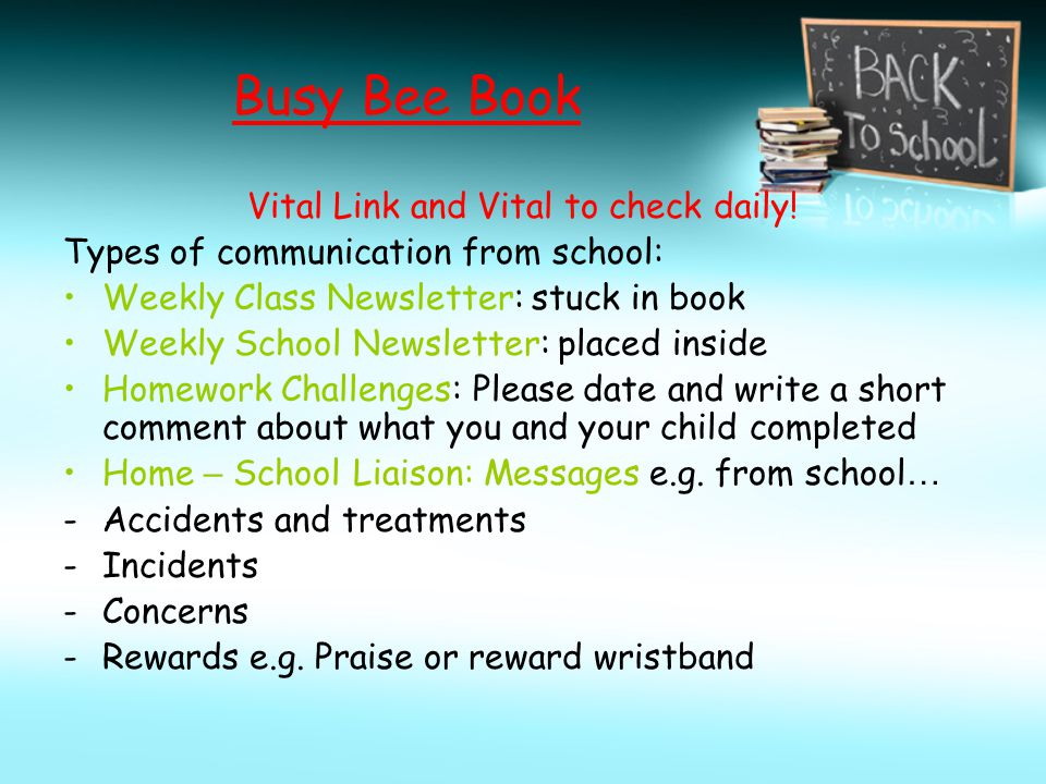 Vital Link and Vital to check daily!
