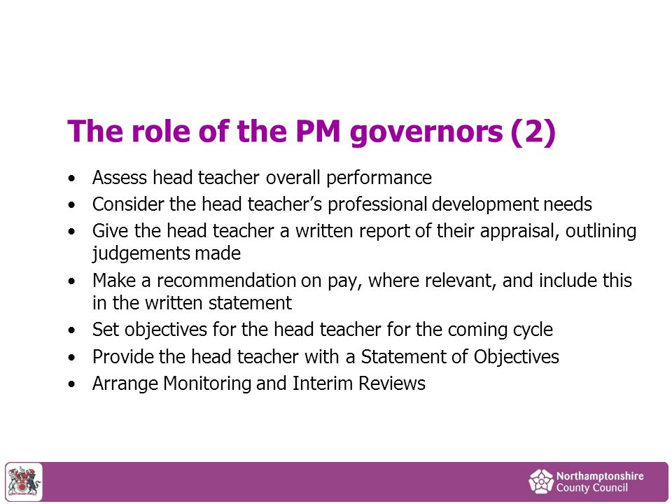 The role of the PM governors (2)