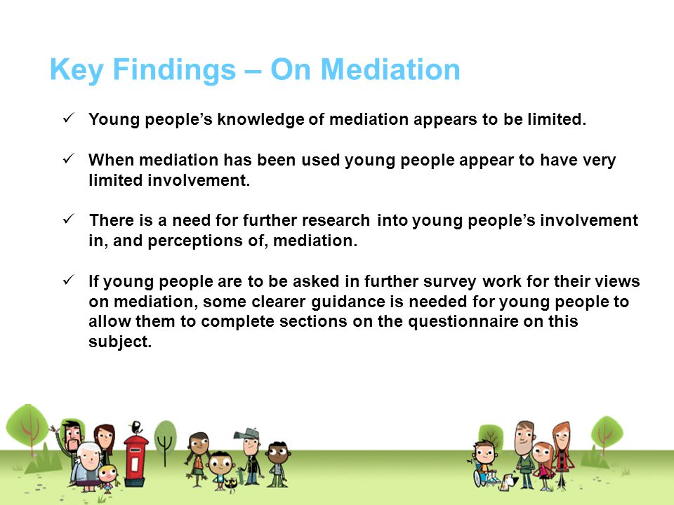 Key Findings – On Mediation