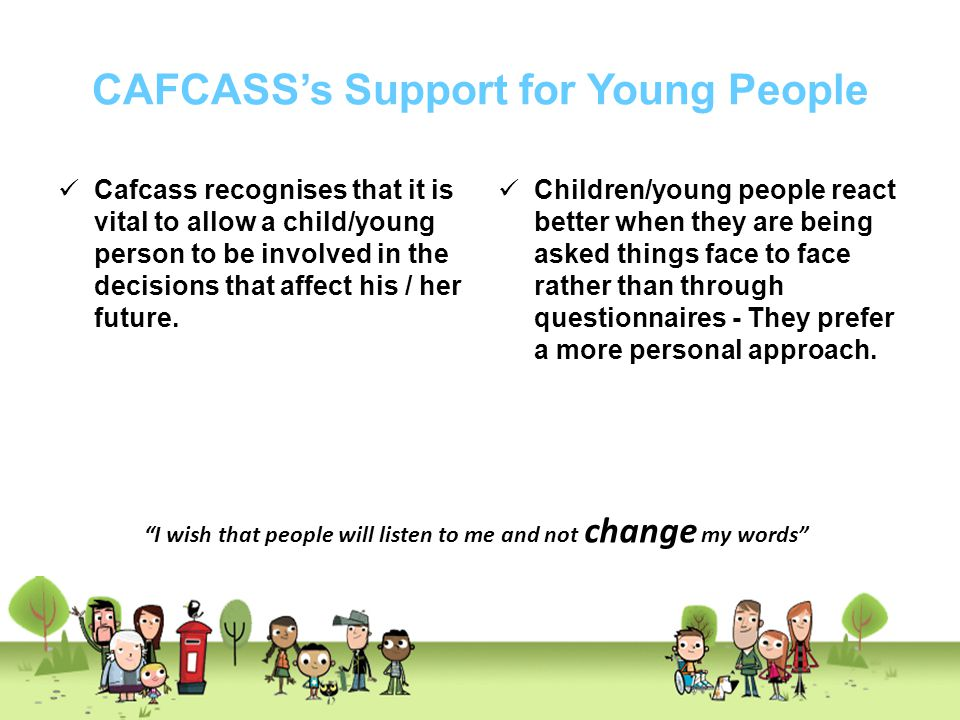CAFCASS's Support for Young People