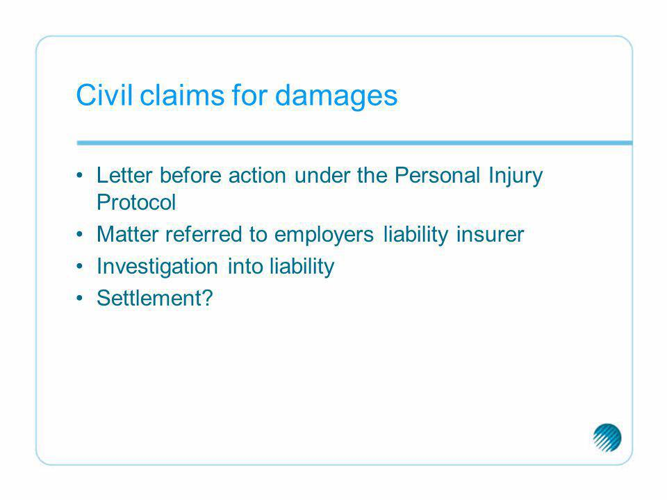 Civil claims for damages