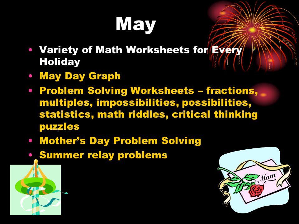 May Variety of Math Worksheets for Every Holiday May Day Graph