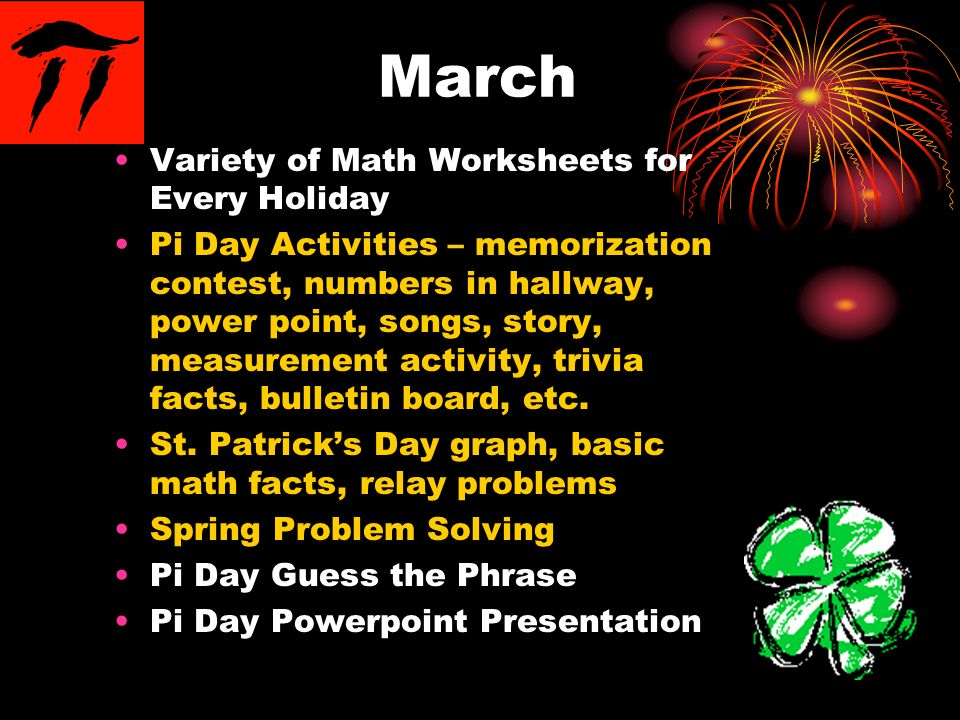 March Variety of Math Worksheets for Every Holiday