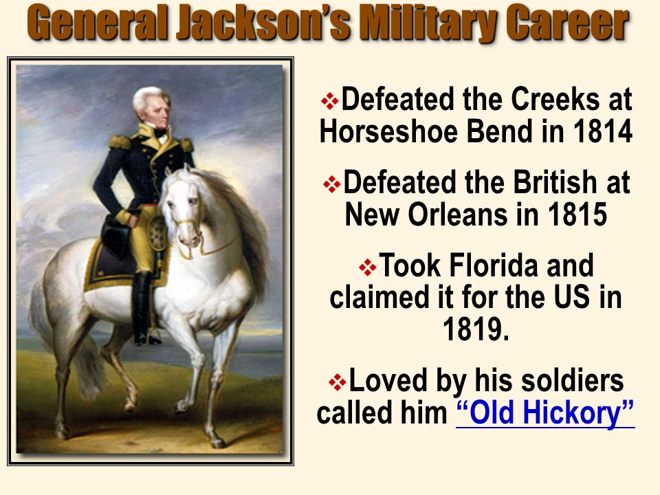 General Jackson's Military Career