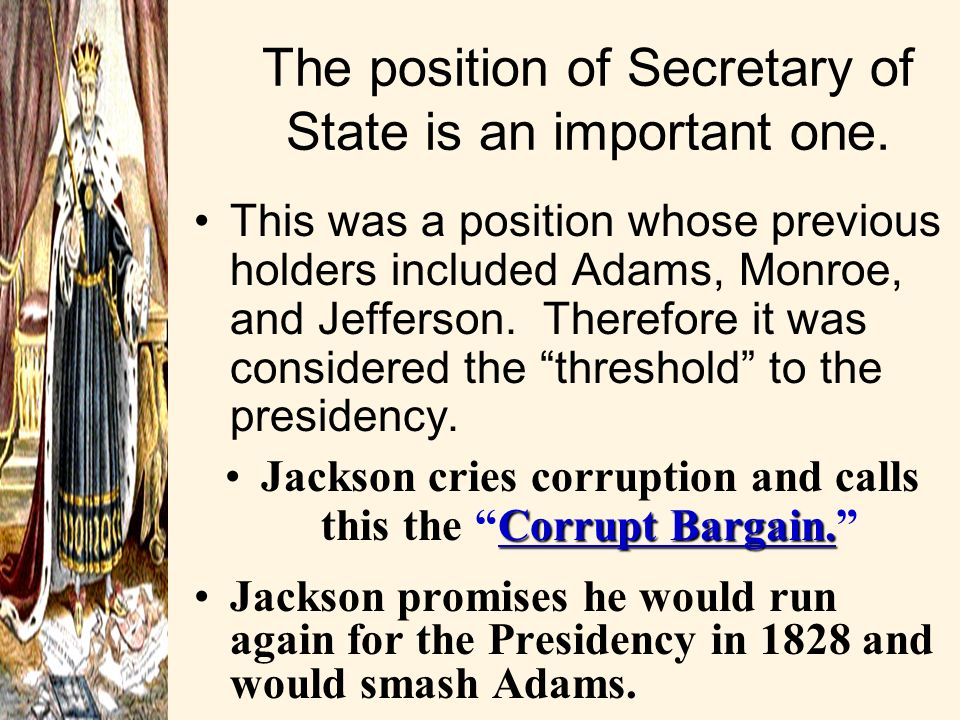 The position of Secretary of State is an important one.