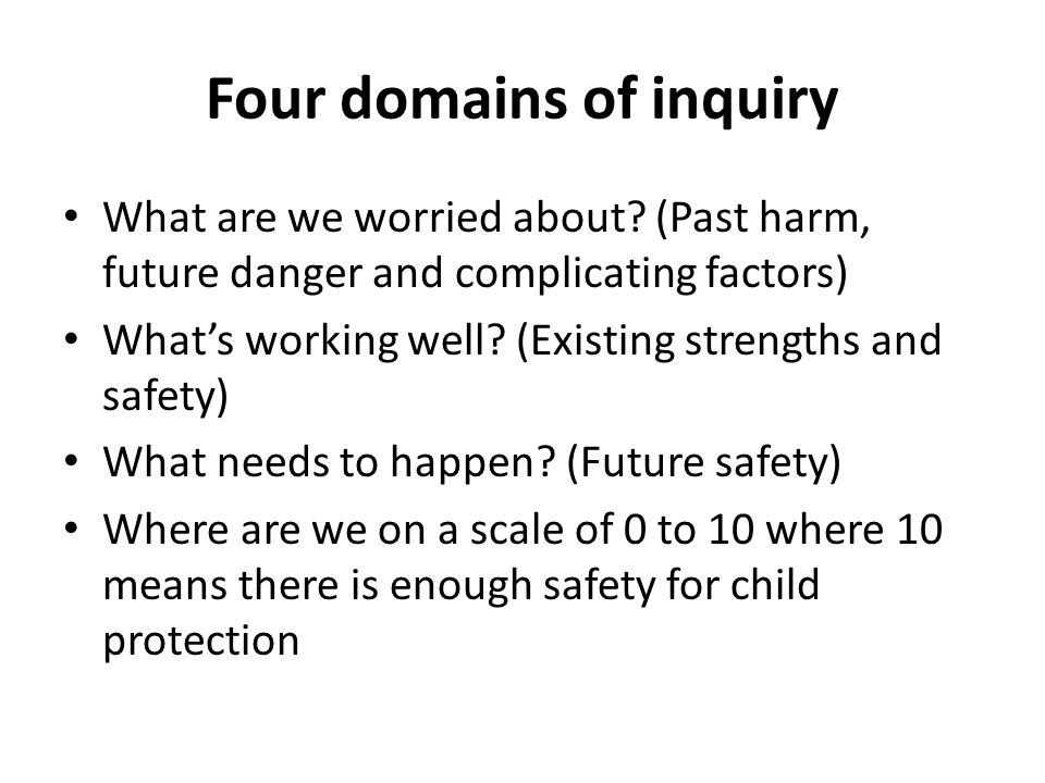 Four domains of inquiry