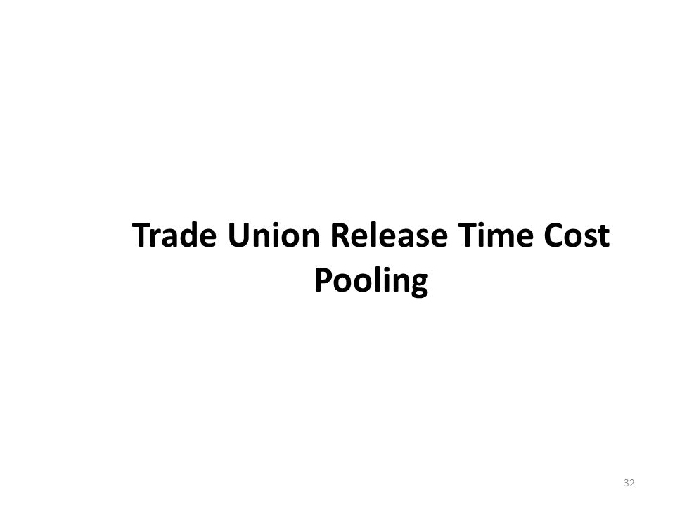 Trade Union Release Time Cost Pooling
