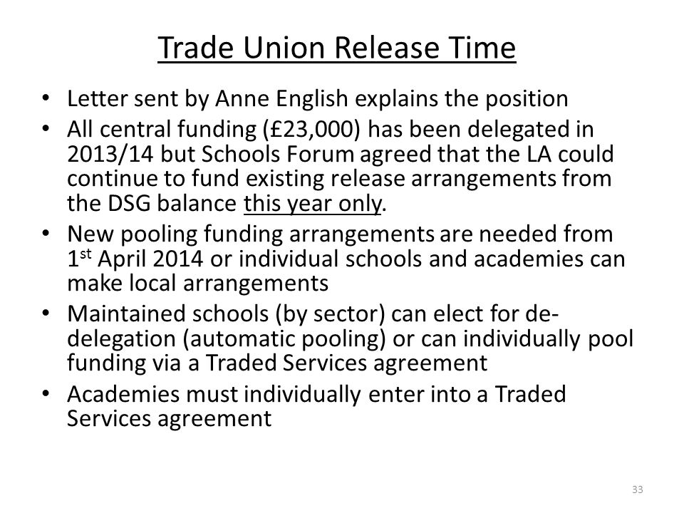 Trade Union Release Time