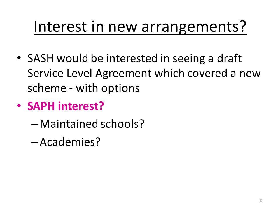 Interest in new arrangements