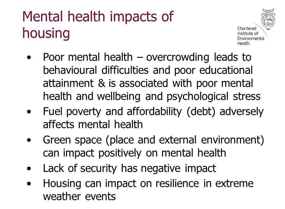 Mental health impacts of housing