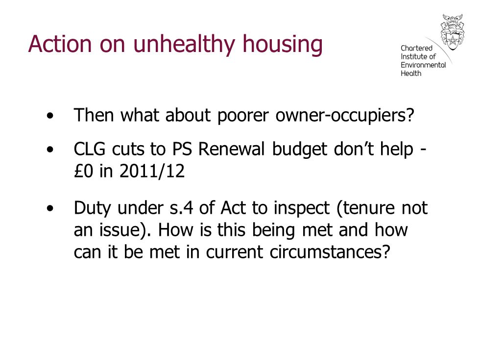 Action on unhealthy housing