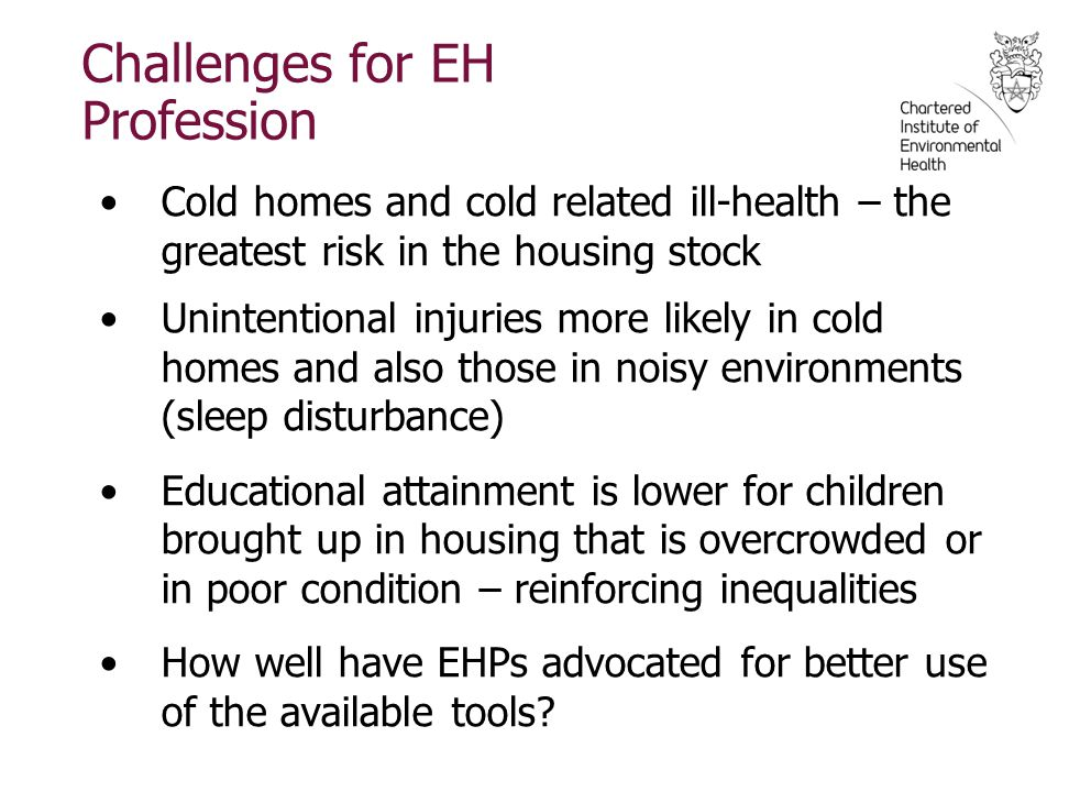 Challenges for EH Profession
