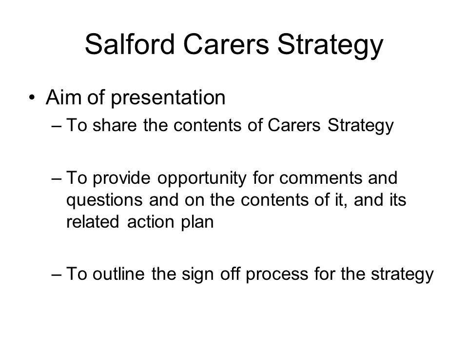 Salford Carers Strategy