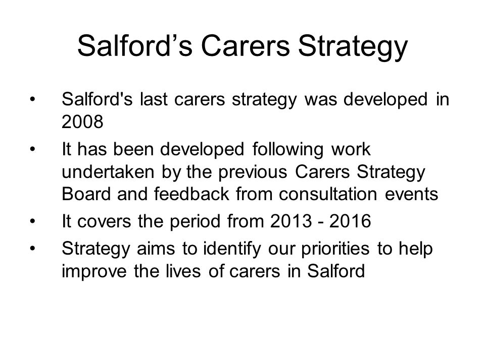Salford's Carers Strategy