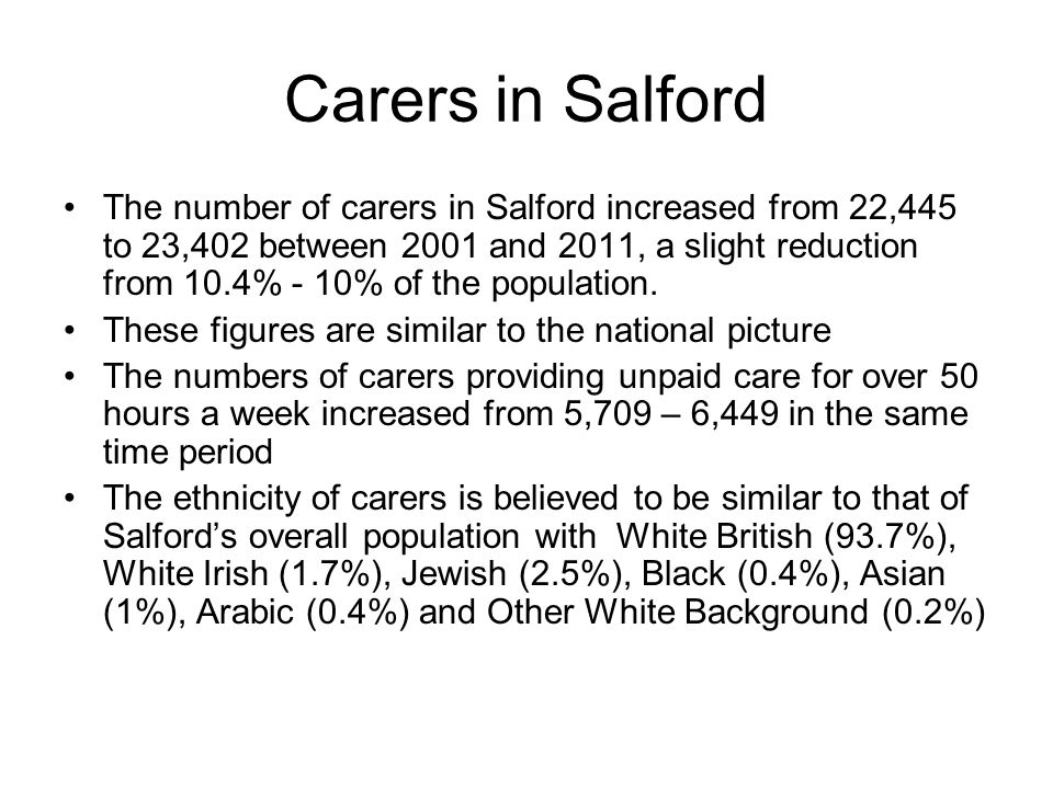 Carers in Salford
