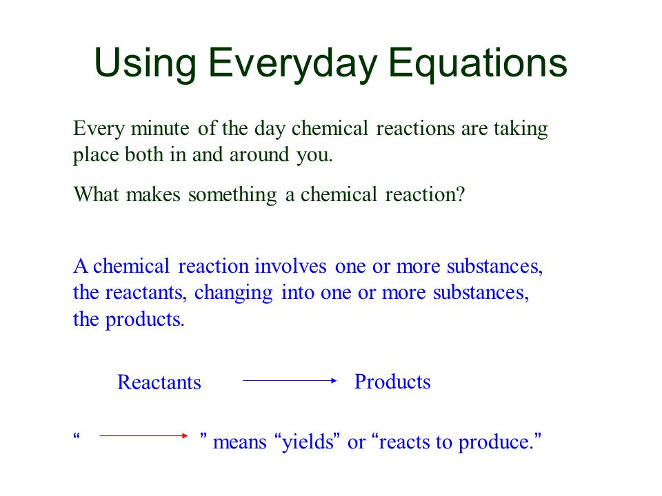 Using Everyday Equations