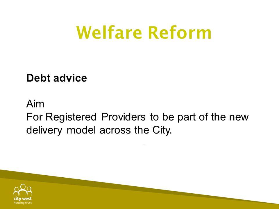 Welfare Reform Debt advice Aim