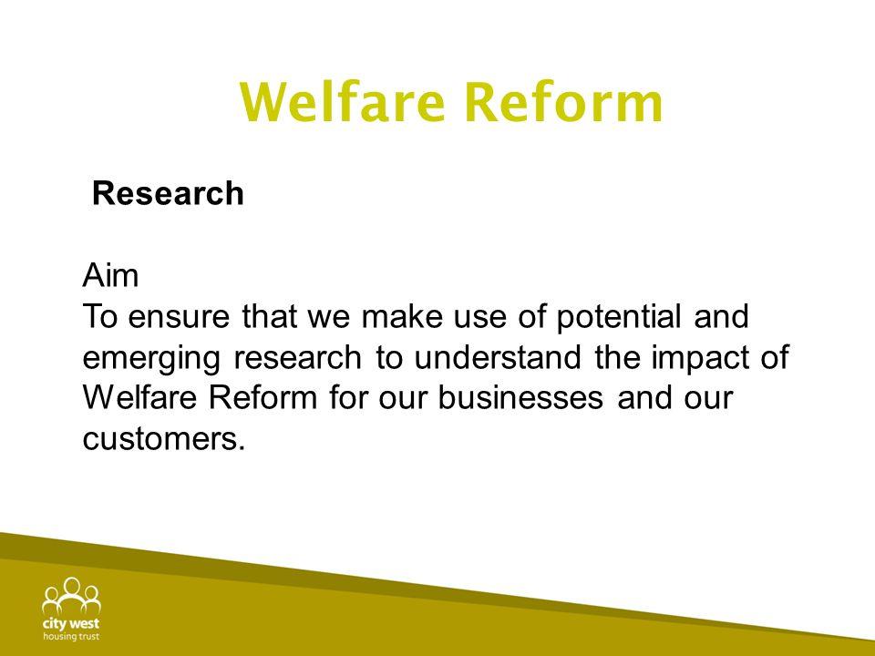 Welfare Reform Research Aim