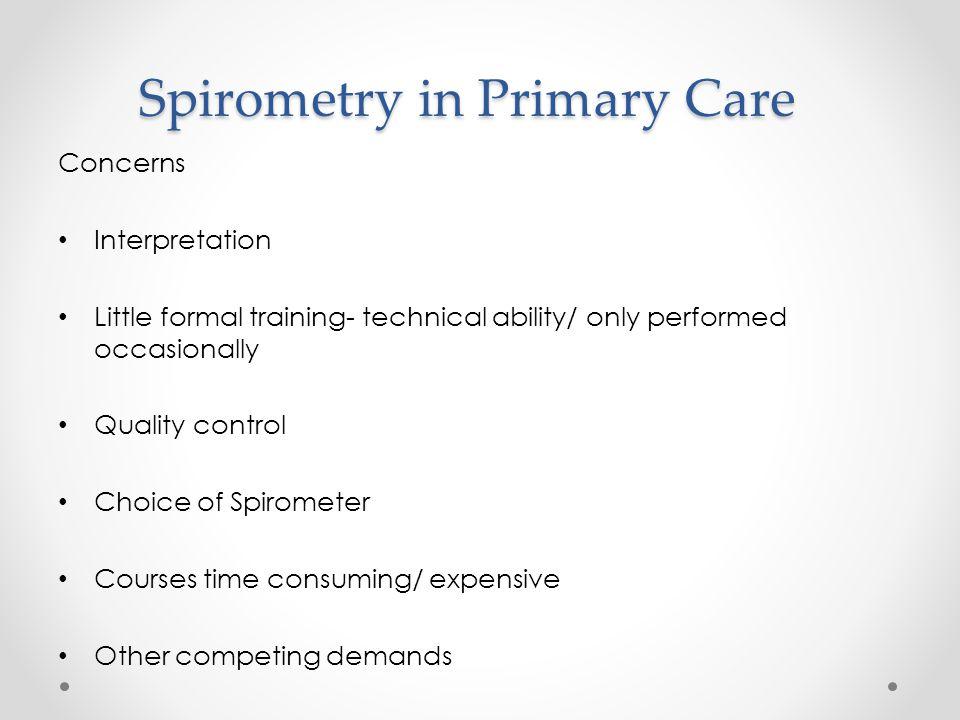 Spirometry in Primary Care