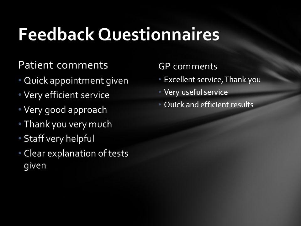 Feedback Questionnaires