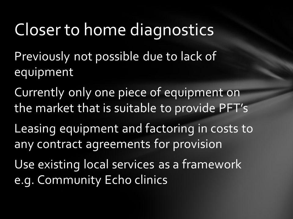 Closer to home diagnostics