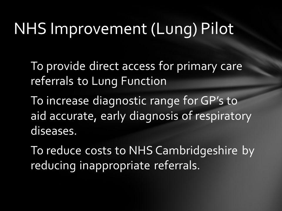 NHS Improvement (Lung) Pilot