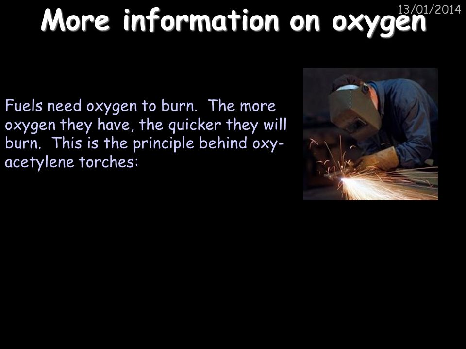 More information on oxygen