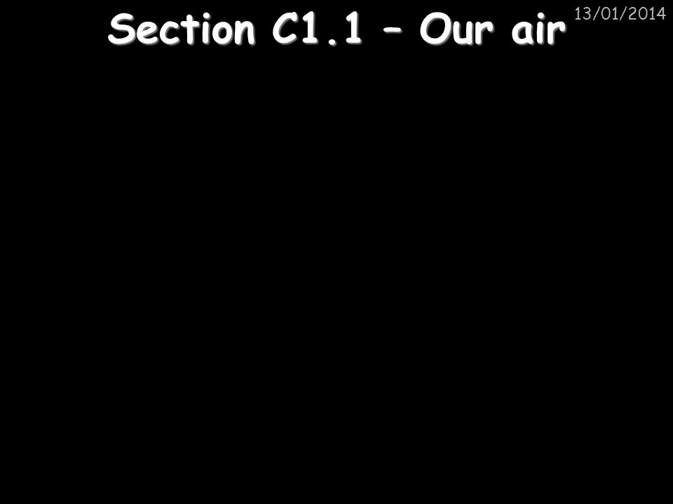 25/03/2017 Section C1.1 – Our air
