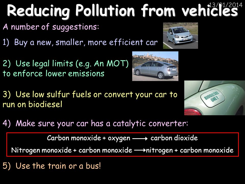 Reducing Pollution from vehicles