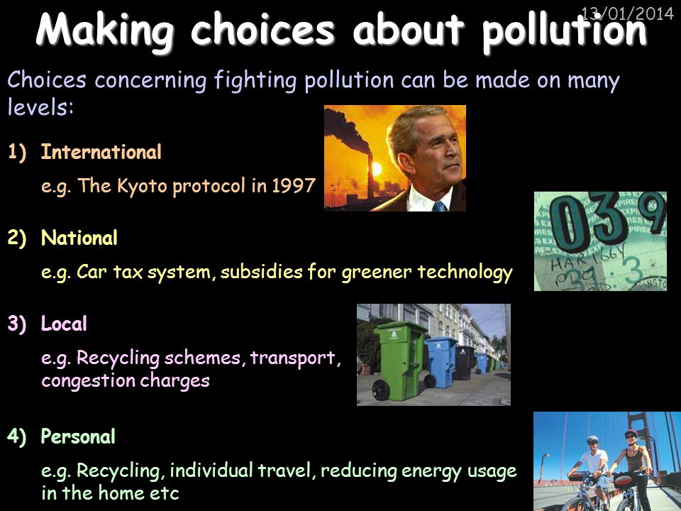 Making choices about pollution